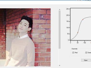 Photoshop Curve Editor(C#)