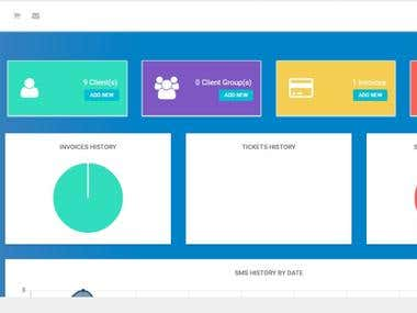 Dashboard design using Custom PHP(Admin side)
