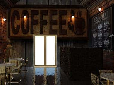 small and cozy commercial coffee shop design