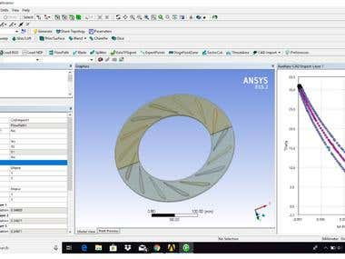 Airfoil radial diffuser CAD and CFD simulation