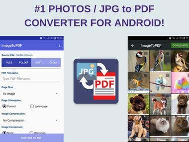 Image to PDF Converter - Send JPG Photos as PDF