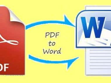 Manually PDF convert into Word file