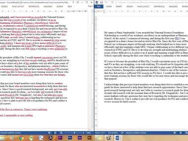Article proofreading and editing