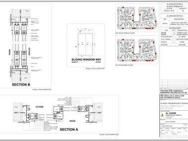 Aluminium Extrusion fabrication drawings