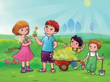 Illustrations/children book illustrations/comic illustration