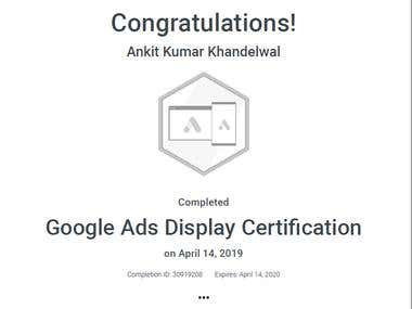 Google Certificate adword
