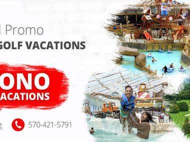 Indoor resort facebook page design