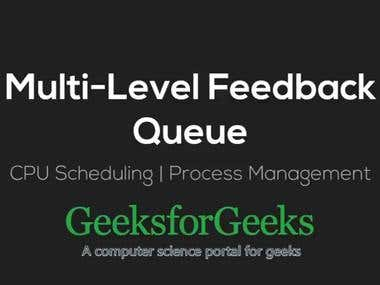 CPU Scheduling with Multilevel Feedback Queue