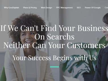 GooDigitals.com Website Design 2019