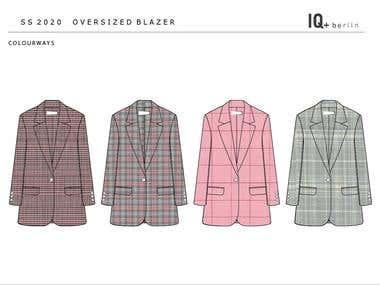 Fashion flat - ladies blazer