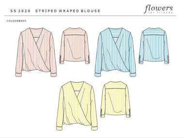 Fashion flat - wrap blouse