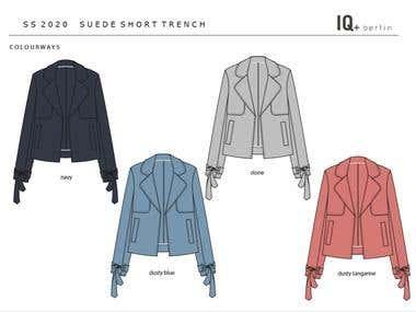 Fashion flat - short trench