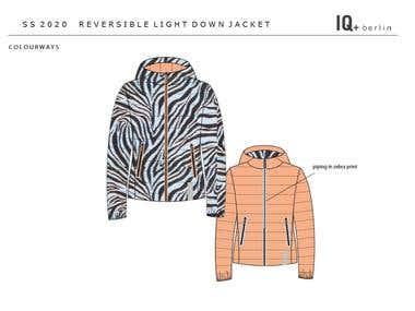 Fashion flat - reversible down jacket