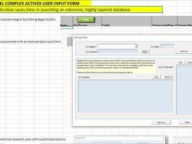 COMPLEX ACTIVEX USER INPUT FORM