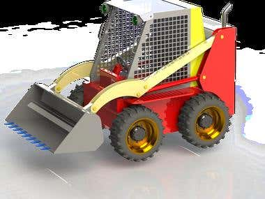 3D Design of Forklift