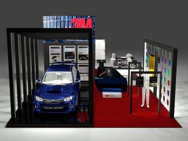 3D booth design and render
