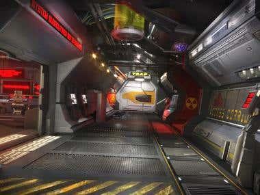Sci_fi corridor 3d