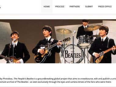 Photobox.co.uk Project