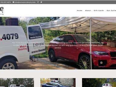 A car interior and exterior decorator website