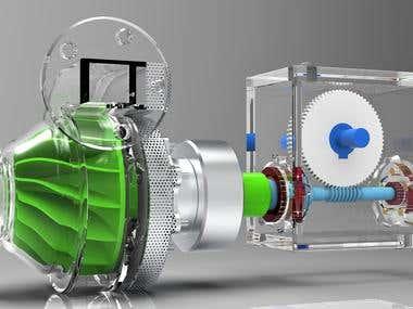 Hybrid mechanical turbo drive