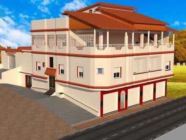 3D of villa hight standing
