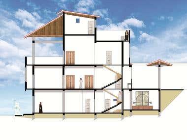 Section A - A villa