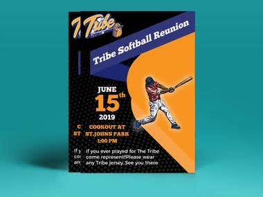 Tribe Softball Reunion Flyer