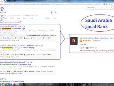 Saudi Arabia Top 1st - Local Rank. ( Google.com.sa )