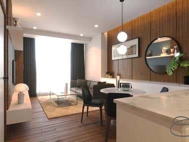 INTERIOR - One Bedroom Apartment