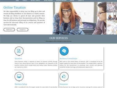 Bootstrap Texation Website