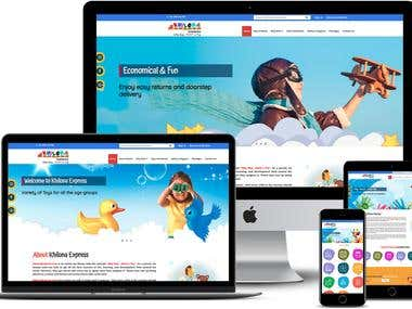 Website Designing (HTML, CSS)