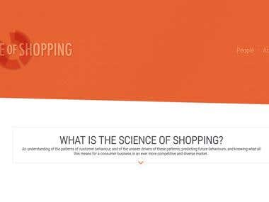 Science of shopping website