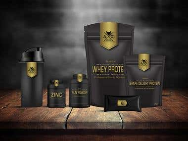 Packaging Designing, Supplement Line