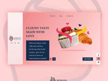 Withlove bakery website