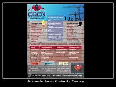 Brochure for General Construction Company