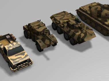 Ai units recently made for a mobile phone game.