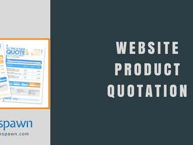 Creates Leads & Quotation from website shop with product
