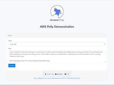 AWS Polly Demonstration