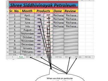 Excel - Petrolpump Data Sheet