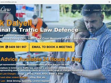 Lawfirm Responsive Wordpress Website