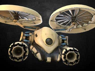 Mech drone