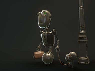 Steampunk robot GB