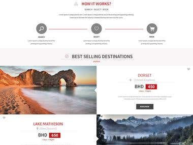 Travel Home page