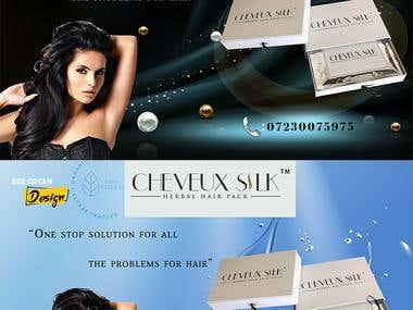 Cheveux Silk Ad Banner