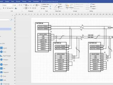 Electrical diagram design in Visio