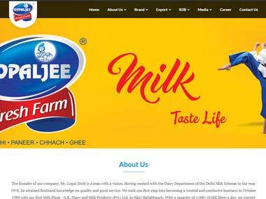 Milk Dairy website