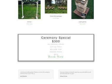 Adelaide weddinghire Website Design and development