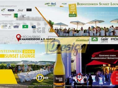 Wine Event Ticket Design