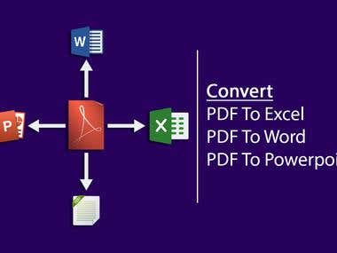 Pdf to Word,pdf to excel,pdf to powerpoint