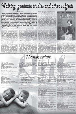 Poetry published in local broadsheet